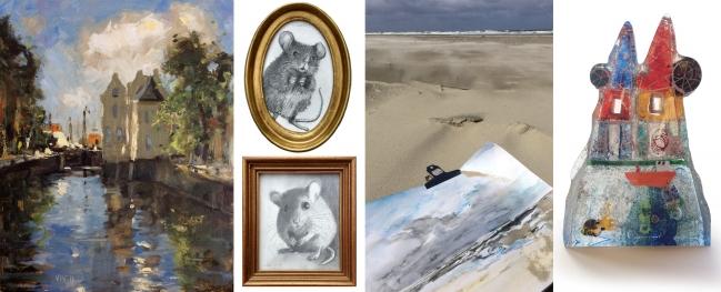 ZOMERKUNST 2017: schilderijen, tekeningen, glas en meer