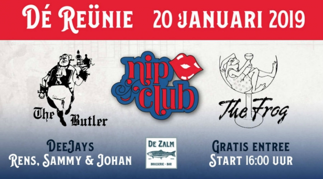 Reünie The Frog, The Butler en de Nip Club in Brasserie-Bar De Zalm